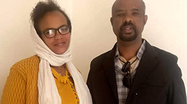 Tewodros Degafe from Ethiopia traveled to India for Eye Surgery